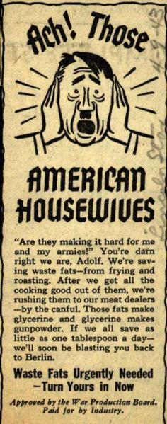 War Production Board's Waste Fats – Ach! Those American Housewives (1943)