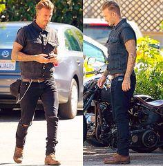 David Beckham biker style