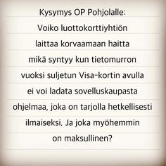 Kokemani kummallinen tilanne pistää miettimään monenlaista. #op #pohjola #oppohjola #t #netsoy #potkukelkkacom