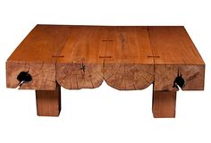 """Hardwood Coffee Table, Maple on OneKingsLane.com Made of:wood Size:48""""W x 48""""D x 16""""H Color:maple price: 2,699"""