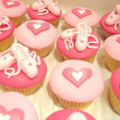 Ballet Birthday Party Pink Cupcakes