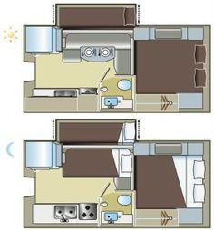Truck Camper BUNK BED PULLOUT floorplan!!