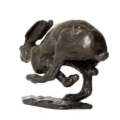 Sue Maclaurin Bronze Sculpture Running Hare www.nelsonandforbes.co.uk