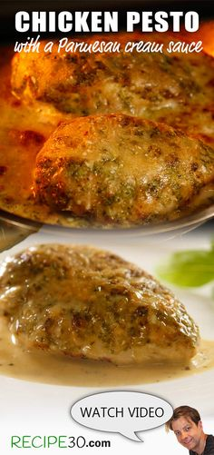 Creamy Parmesan Pesto Chicken Chicken Breast in a tasty cream sauce