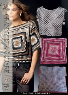 The easiest top you will make | 2 granny squares | DiaryofaCreativeFanatic
