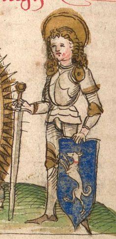 """Kalendarium, medizinische und astronomisch/astrologische Texte Johannes Birk (?): 'Stiftung des gotzhaus Kempten' (""""Karlschronik"""") Baumzucht Cgm 9470 Schwaben (Kempten?), 1499/um 1500 Folio 39v"""