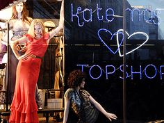 The always stylish Kate Moss at TopShop (advertising her new line).  . #boden  #fromlondonwithlove