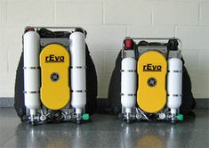 Technical Rebreather- bubble free diving, warm air, and constant oxygen % control- LOVE!