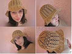 Lace Crochet summer hat with brim,Cotton hat,linen hat, spring summer hat,cotton,beach hat,crocheted hat,100% HAND MADE.Ready To Ship!