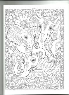 Free Adult Coloring Pages, Cute Coloring Pages, Animal Coloring Pages, Printable Coloring Pages, Coloring Pages For Kids, Coloring Sheets, Free Coloring, Coloring Books, Elephant Colour