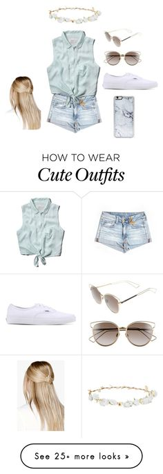 """casual cute"" by claudiakevans on Polyvore featuring American Eagle Outfitters, Abercrombie & Fitch, Vans, Christian Dior, Robert Rose, Boohoo and Zero Gravity"