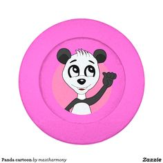 Panda cartoon pack of small button covers