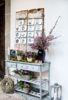 olalla10                                                                                                                                                     Más Welcome To My House, Wedding Boxes, Wedding Ideas, Next At Home, Something Blue, Ladder Decor, Wedding Colors, Shabby Chic, Boho Chic