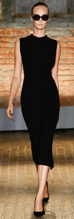 Sleeveless dress with high neckline- great after I hit the gym to work on my arms!