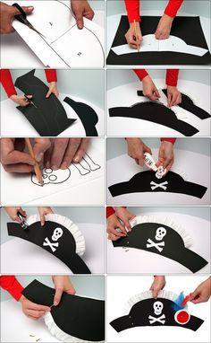 Sombrero pirata. Con tutorial