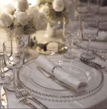 Silver Beaded Charger Plates Melbourne Hire Set of 100 for $400