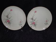 TWO Fine China of Japan Golden Rose Salad Plate - MINT! #FineChinaofJapan