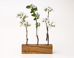 Wood Vase LITTLE VIOLET hand crafted by LESS  MORE Vienna by Less, via Flickr