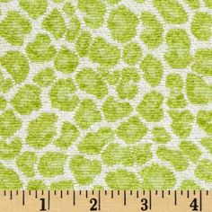 Oddly reminiscent of the fabric currently on the chairs...yet, appealing.  Golding Fabrics Spots Chenille Jacquard Lime By The YD, $16.98 /yd