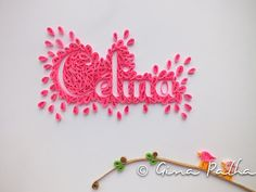 Baby Name Paper Art  Quilling by GinaPalha on Etsy, €30.00