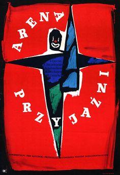 Vintage Polish movie poster 1958 by Wiktor Gorka : Tahiti: Arena przyjazni
