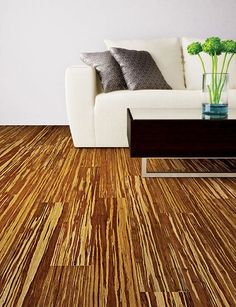 Renew and Restore Collection - Strand Woven Tiger Stripe | Home Legend | Bamboo flooring in living room.