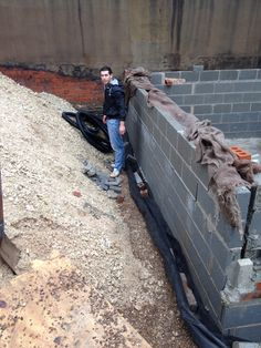 Laying the land drain