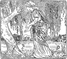 Frigga Asking a Tree (In Norse mythology, Frigga's son, Baldur the sun god, has a dream that he will die. Frigga travels the whole world asking all living and non-living things to do no harm to Baldur.)