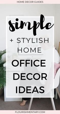 """Looking for simple home office decor ideas to give your workspace a makeover? These easy home office decor ideas will help you revamp your workspace, so that you can't wait to """"commute"""" there in the morning. Keep reading for lots of inspiration to help you boost your productivity and creativity while working from home!"""