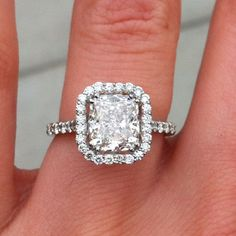 My Cushion cut with halo! My future hubby is perfect!!