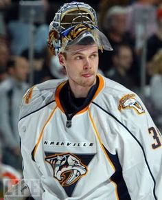 Drooling on the glass - Because every girl's crazy - 'Bout a tall blond Finn. (Pekka Rinne of the Nashville Predators. My apologies to ZZ Top...)