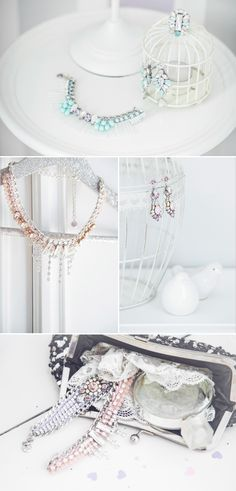 Lou Lou creative lab wedding jewelry. Captured By: Margherita Calati http://www.weddingchicks.com/2014/06/12/start-your-wedding-day-off-in-the-sweetest-way-possible/