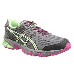 ASICS Womens GelSonoma CharcoalMintHot Pink 8 B  Medium ** Click image to review more details.
