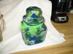 Closeup...this was a thank you gift to someone very special. Probably holds herbal tea now