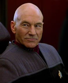 Patrick Stewart as Capt. Jean Luc Picard -- I blame him for my love of bald men.
