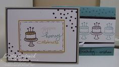 Card samples from my Endless Birthday Wishes class - a new stamp set from Stampin' Up!