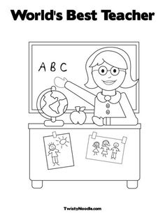 Lots Of Fabulous Printables Teacher Sitting Coloring Page