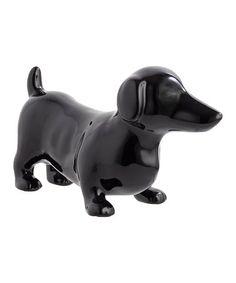 Look what I found on #zulily! Black Dachshund Figurine #zulilyfinds