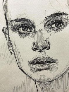 Ink drawing of Natalie Portman, stunning portrait. art sketch Ink drawing of Natalie Portman, stunning portrait. Portrait Au Crayon, Portrait Art, Self Portrait Drawing, Pencil Portrait, Ink Pen Drawings, Drawing Sketches, Pen Sketch, Sketching, Face Drawings