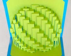 DIY Template Astroid Rings kirigami paper sculpture by Ullagami