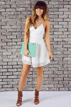 Simply Adoring Dress: White #shophopes