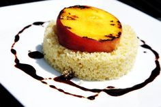 "Peaches & ""Cream"" With Homemade Balsamic Reduction Recipes ..."