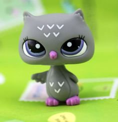 Littlest Pet Shop - Night Owl Petshop Loose Figure Rare