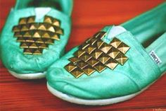 cute teal #toms