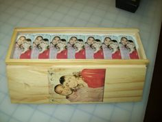 Personalized photo dominoes with spinners.
