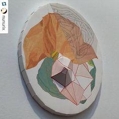 "#Repost @nunurix  Cristina del Campo en ""Juan Siló"" #artesantander #art #rounded #artgallery #artfair #spain #arte"