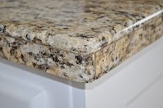 Starter home to Dream home: DIY Granite Mini Slabs + Undermount Sink Granite Tile, Slab, Tile Countertops, Diy Kitchen Renovation, Granite Tile Countertops, Tile Countertops Kitchen, Trendy Kitchen Tile, Kitchen Tile Diy, Tile Countertops Diy