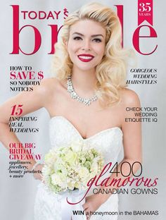 Guess Model Ashley Diana Morris sparkling on the cover of Today's Bride Magazine in Elsa Corsi Jewellery!