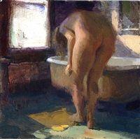 Nude with Mat, 2011, by Jon Redmond