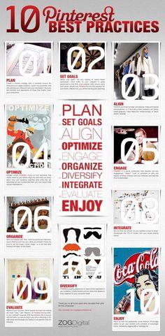 Pinterest Best Practices #socialmedia #infographic #infographics